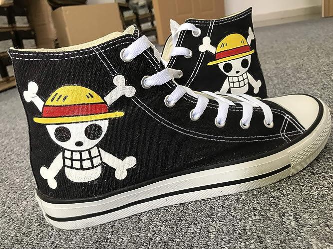 7de7db255e Amazon.com  Anime One Piece Shoes Men Women Sneakers Avenged Sevenfold Hand  Painted Shoes Custom Sneakers Free Shipping  Handmade