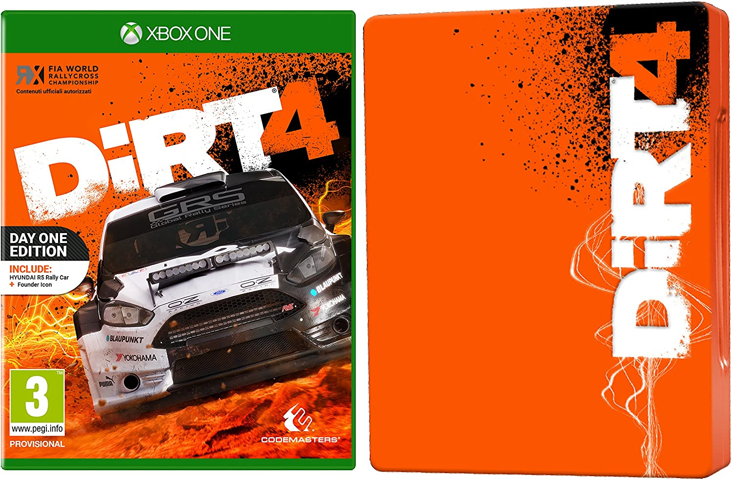 DiRT 4 - Steelbook Day One Limited Esclusiva Amazon - Xbox One [Importación italiana]: Amazon.es: Videojuegos
