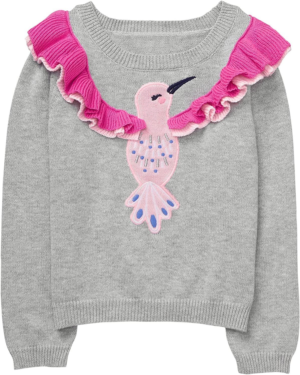 Gymboree Baby Girls Long Sleeve Hummingbird Pullover
