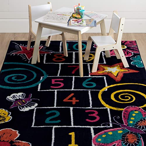 Mohawk Home Hopscotch Chalk Area Rug