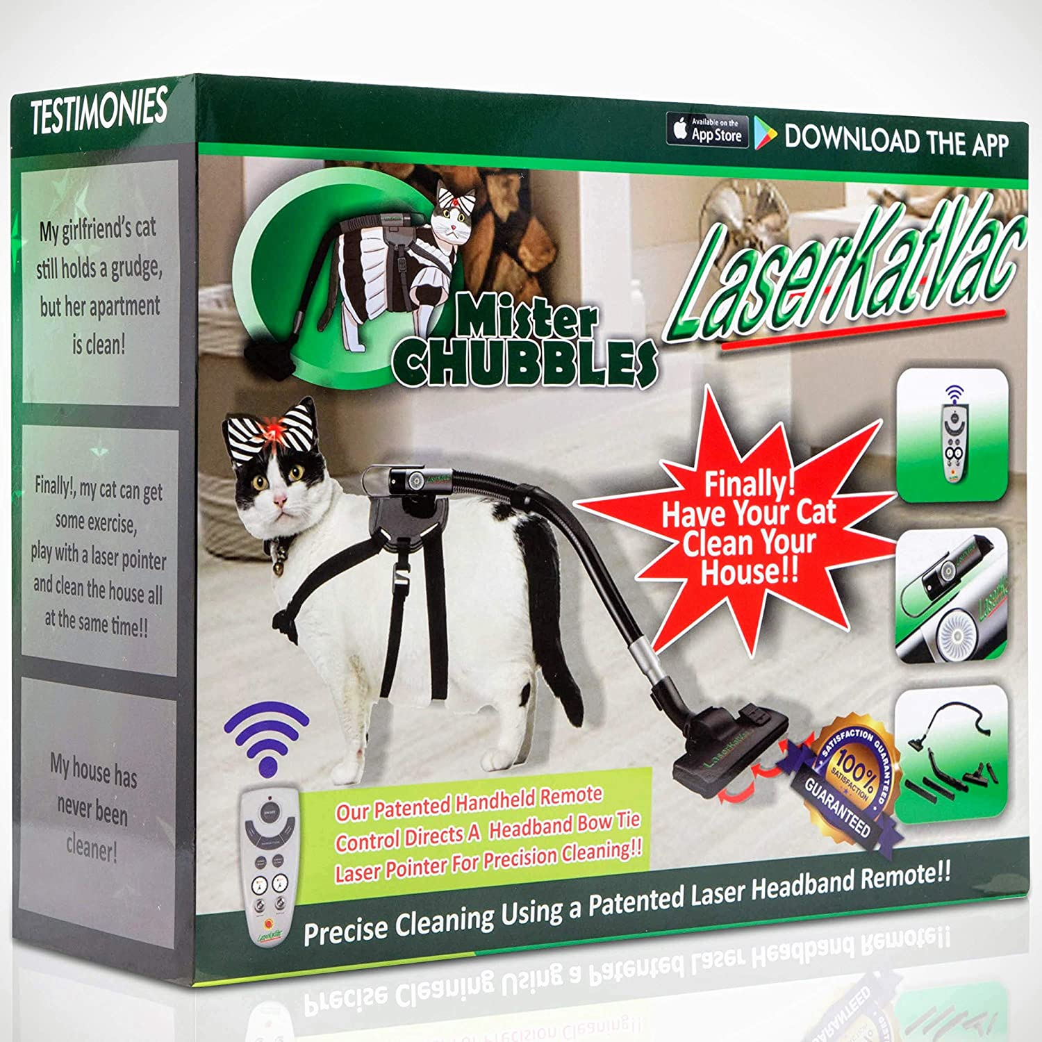 Prank Gift Boxes, Inc. LaserKatVac! Prank Box for Adult or Kids! Prank Gift Box / Gag Box for Fun Present Giving! The Fake Joke Box for Lovers of Funny Gag Gifts and Funny Pranks