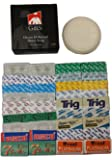36 Feather, Astra, Derby, Trig, Super Max, Lord, Treet, Shark 7 O'clock Sampler Blades -- Plus Gbs 3 Oz Ocean Driftwood Shave Soap