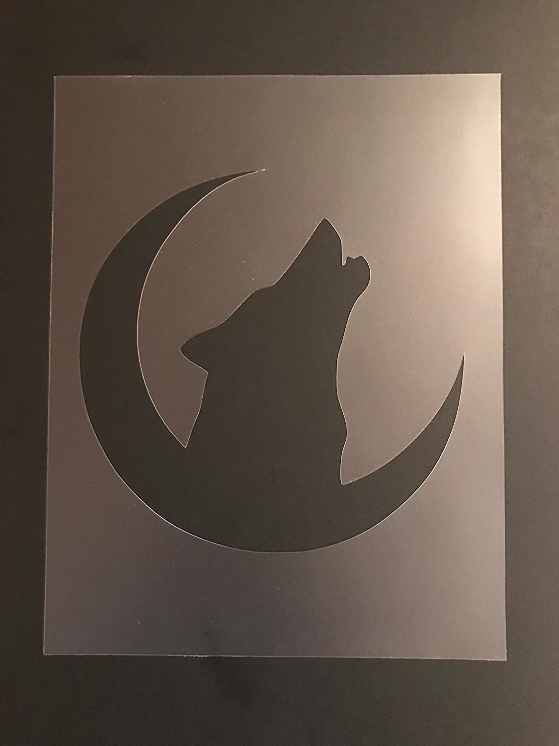 Wolf Stencil #1 Reusable 10 mil Thick 7in x 9in sheet