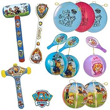 TB TOYS Patrulla Canina Kit de fiesta de cumpleaños con 11 juguetes hinchables para los niños: Amazon.es: Juguetes y juegos