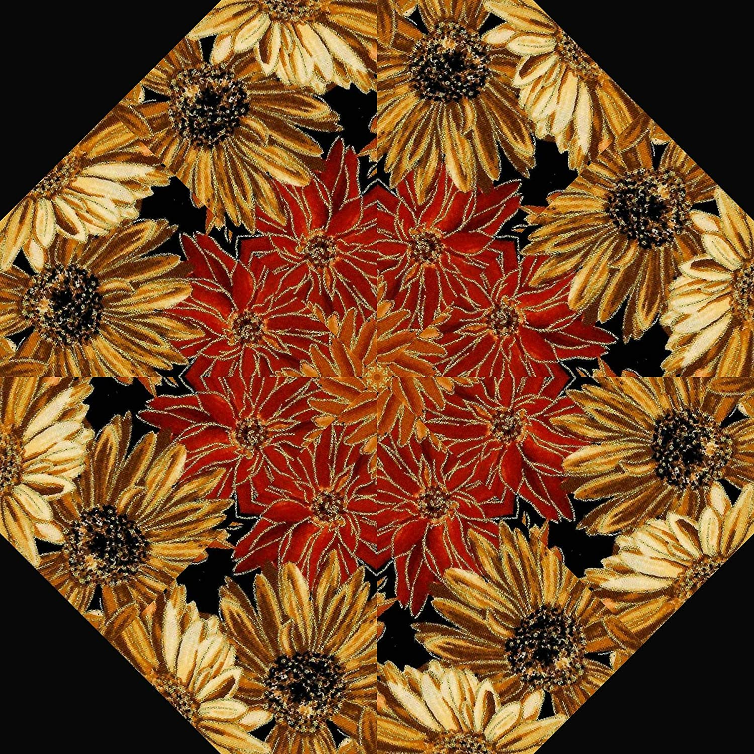 aka Stack /& Whack Pre Cut Quilt Kit FALL HARVEST Florals Kaleidoscope