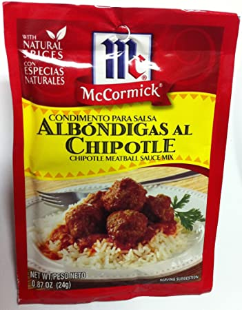 McCormick Chipotle Meatball Sauce Mix (Condimento Para Salsa Albondigas Al Chipotle)