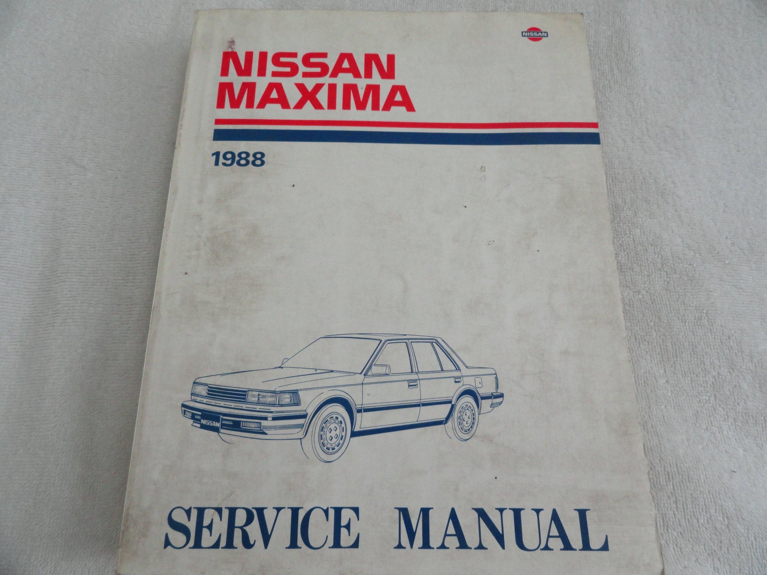 1988 Nissan Maxima Service Shop Repair Manual Set OEM ... on