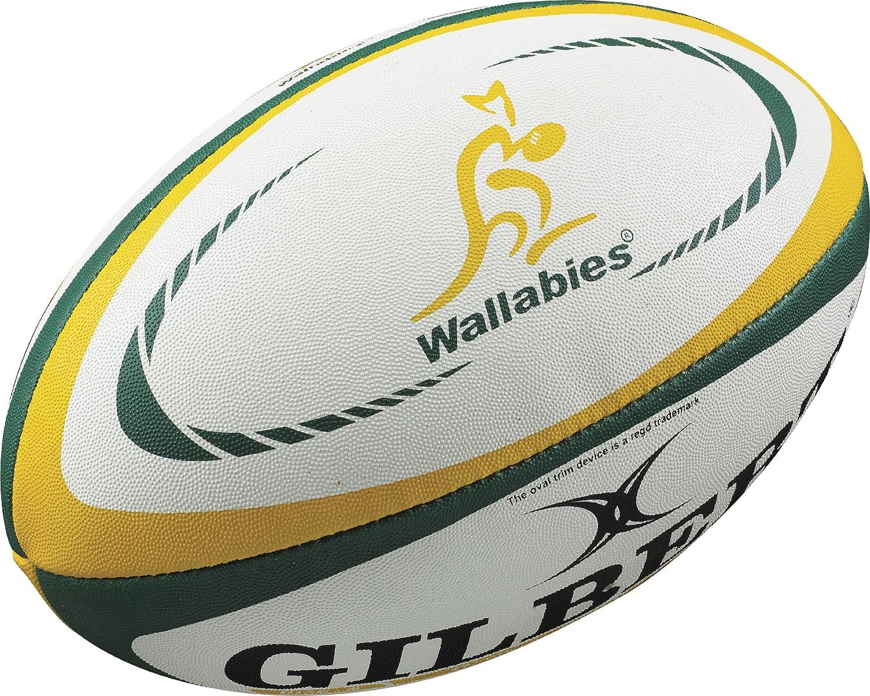 Gilbert Australia Internationalレプリカラグビーボール – サイズ5 - B0070T30VU ホワイト 5