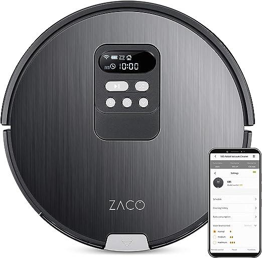 ZACO V85 - 2 en 1 robot aspirador friegasuelos con pantalla LCD ...