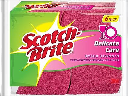 2 Pack - 6 Count Scotch-Brite Non-Scratch Scrub Sponge,