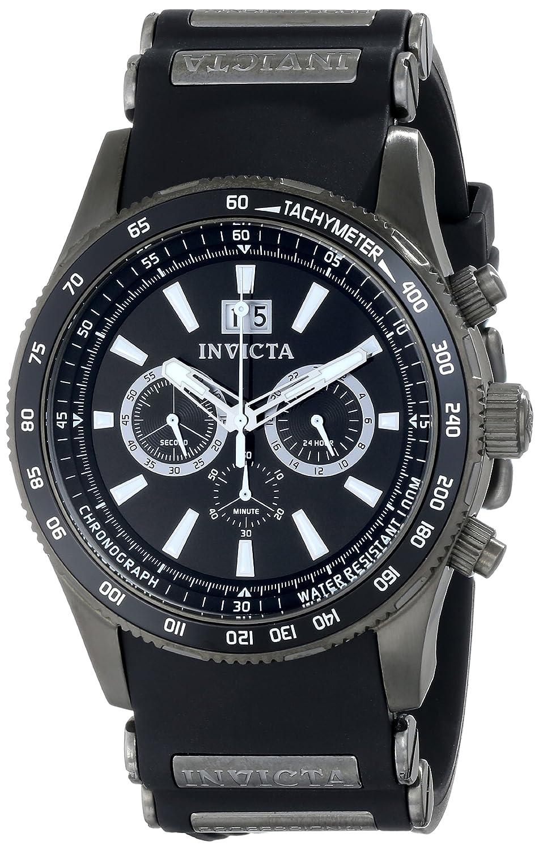 Invicta Men s 1239 Aviator Analog Display Japanese Quartz Black Watch
