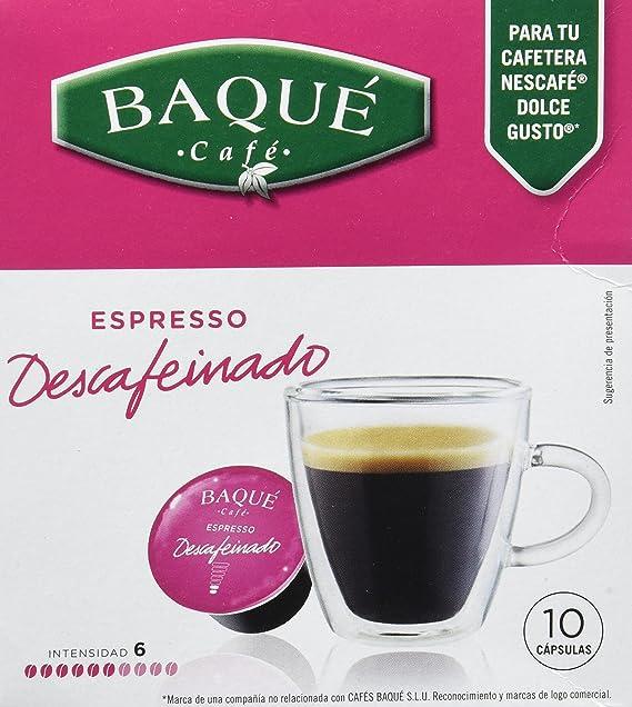 Cafés Baqué Cápsulas Compatibles Dolce Gusto Descafeinado - 70 gr ...