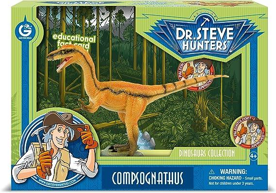 Cazadores Dr. Steve CL1590K - Colección de Dinosaurios: Modelo Compsognathus: Amazon.es: Juguetes y juegos
