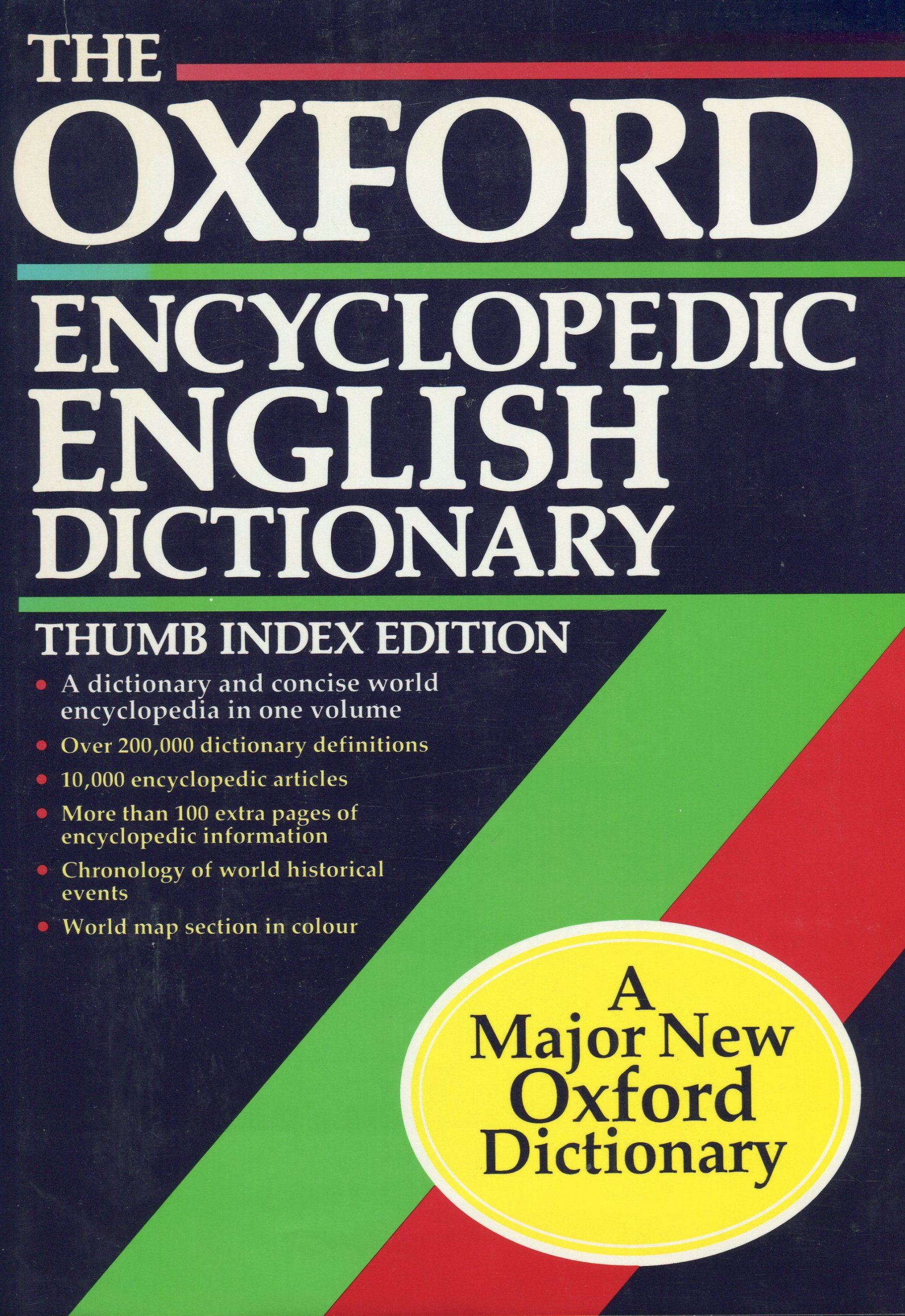 Amazon.com: The Oxford Encyclopedic English Dictionary: with thumb index  (9780198612667): Joyce M. Hawkins, Robert Allen: Books