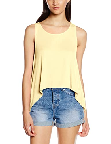 Only onlMILEY S/L Pleat Top Ess, Canotta Donna
