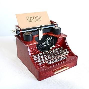 Caja de música - Alytimes - Con diseño de máquina de escribir vintage, para el hogar, la oficina o la sala de estudio: Amazon.es: Hogar