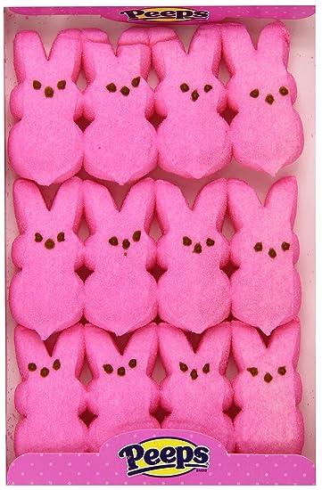Amazoncom  Peeps Pink Bunnies12Pc  Peeps Candy  Grocery