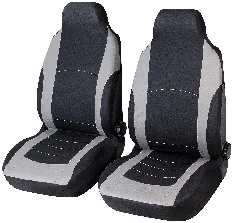 RMG IT15 Autositzbezü ge Vordersitzbezü ge Schonbezü ge Schonbezü ge Schwarz Grau Passend fü r Sitze mit Airbag Armlehne 2 Sitze
