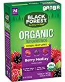 Black Forest Organic Fruit Snacks 24ct, Berry Medley, Certified USDA Organic, Fat Free & Gluten Free Assorted Flavors, 0.8 Ounce Bag, 24 Count