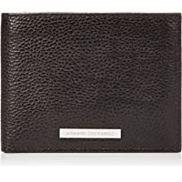Armani Exchange Men's Leather Trifold Credit Card Wallet