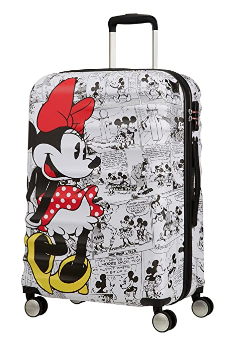198bfa3450c American Tourister Wavebreaker Disney - Comics Spinner Medium Hand Luggage,  67 cm, 64 liters, White (Minnie White): Amazon.co.uk: Luggage