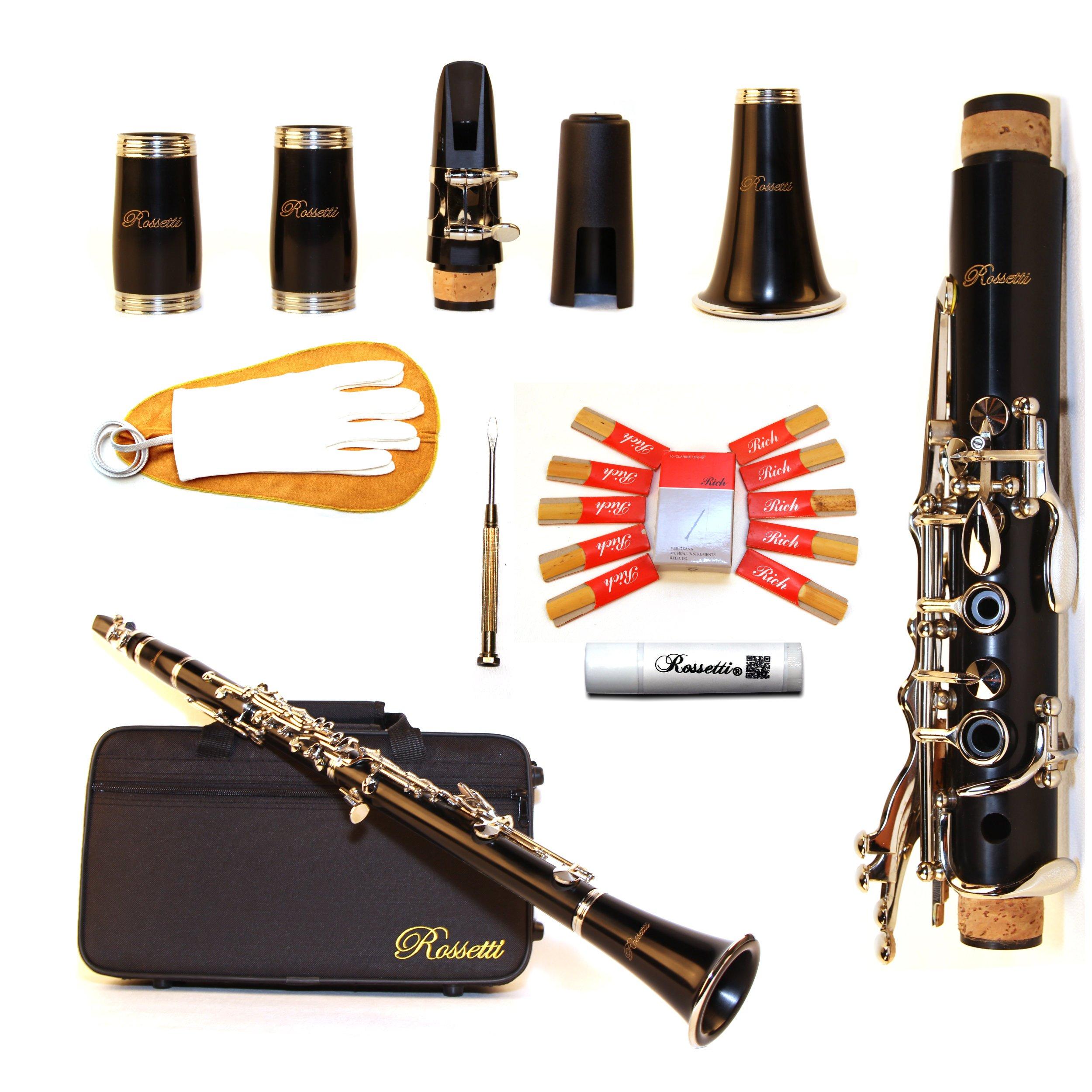 Rossetti Intermediate Soprano Bb Clarinet Black, ROS1149