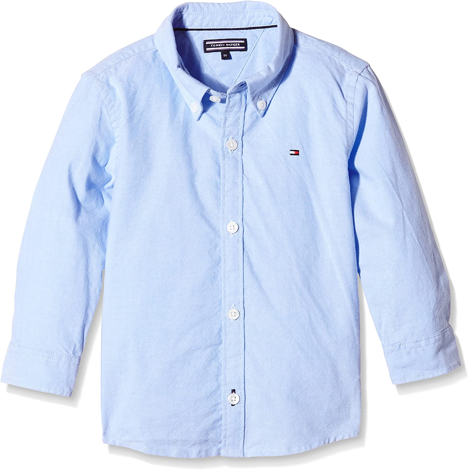 Tommy Hilfiger Solid Oxford Shirt L//S Camicia Bambino
