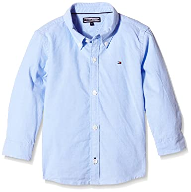 Tommy Hilfiger Jungen Hemd SOLID Oxford Shirt L S, Blau (Light Blue 050 bf40ac0622