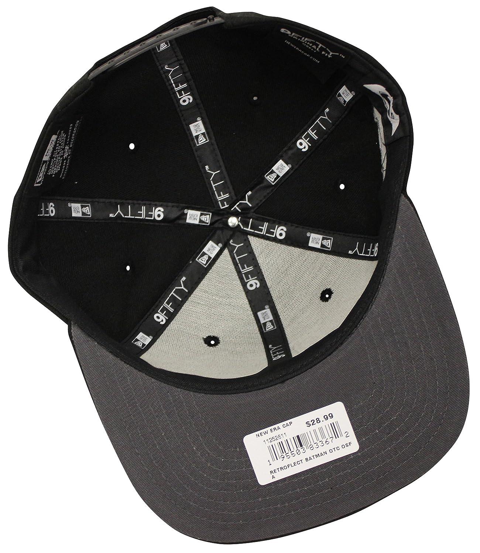 ca4ba9f9a63 Amazon.com  New Era 9Fifty Retroflect Batman Black Snapback BVS Dawn of  Justice  Clothing