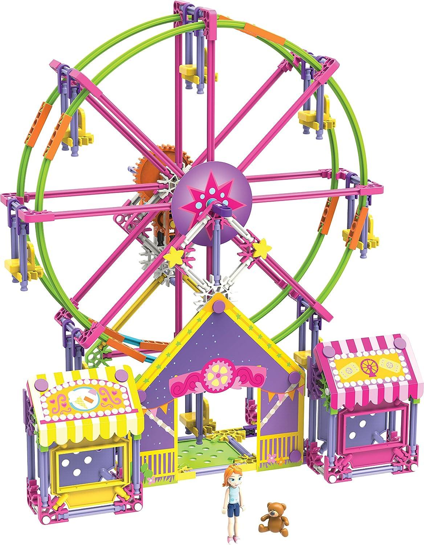 amazon com k nex mighty makers fun on the ferris wheel building set