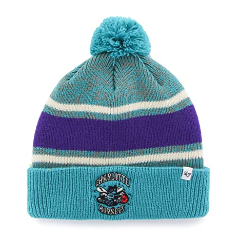 0dacad3f76c Amazon.com   NBA Charlotte Hornets  47 Fairfax Cuff Knit Hat with ...