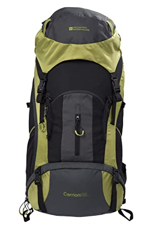 Mountain Warehouse Carrion 65L Backpack – Raincover, Lightweight