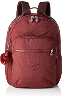 acc9ec46eb Kipling CLAS SEOUL School Backpack, 45 cm, 25 liters, Brown (Burnt Carmine