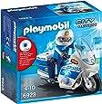 Playmobil 6923 - Moto della Polizia, Blu/Bianco