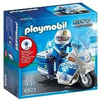 Playmobil - 6923 - Jeu - Moto Policier avec Gyrophare