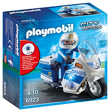 Playmobil Policía Y Moto Luces Led6923 Con PXk8nO0w