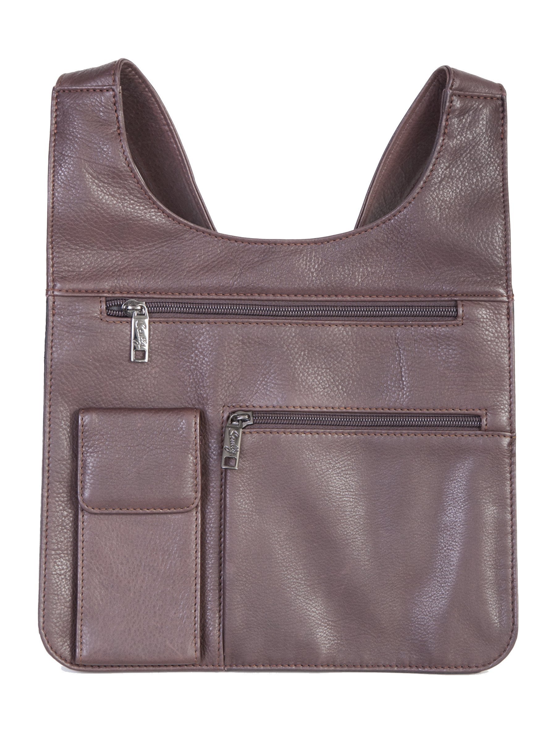Scully 834-11-25-F Soft Plonge Leather Ladies Travel Bag - Chocolate
