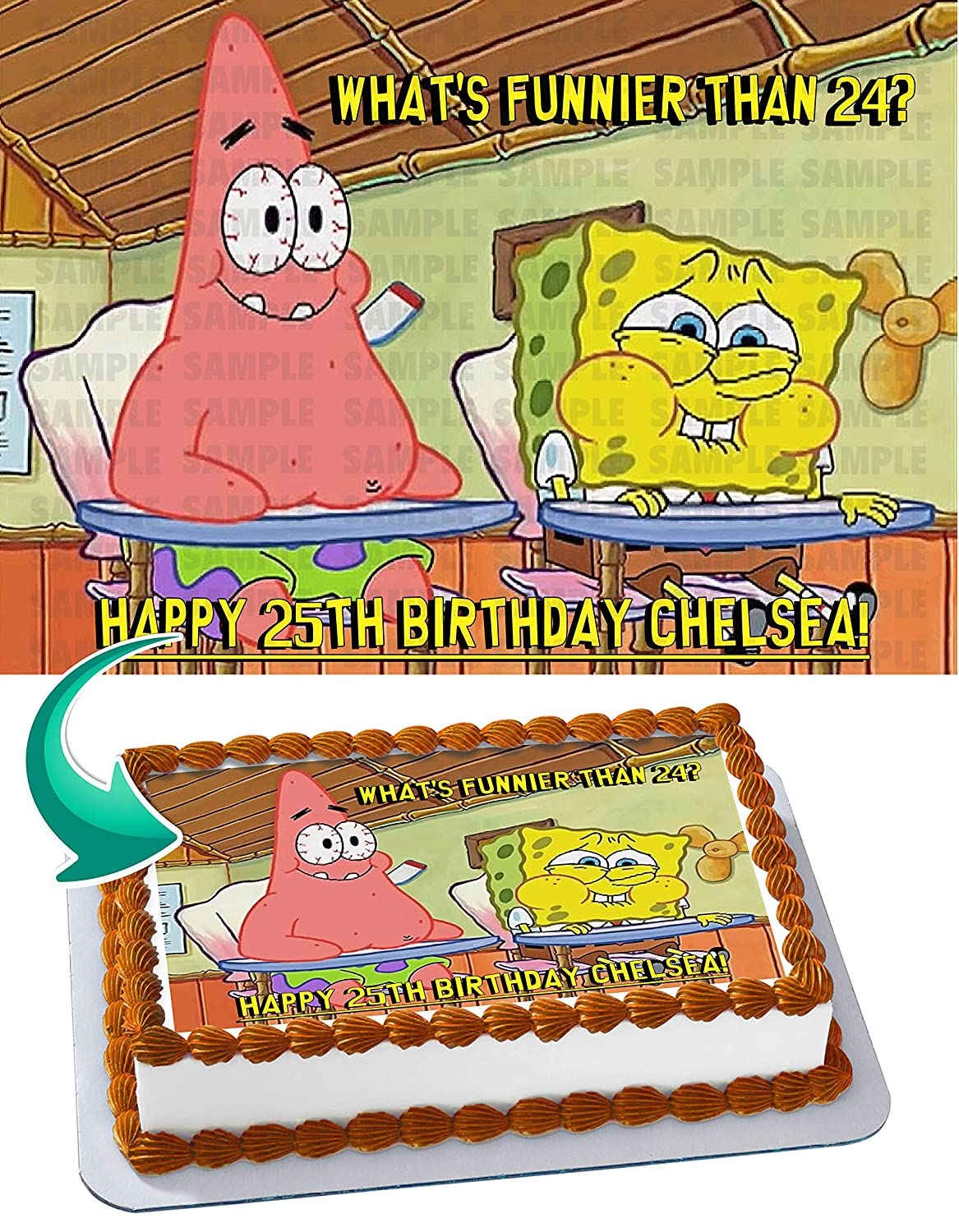 Spongebob You Know Whats Better Than 24 Edible Cake Topper Image Personalized Birthday 1 4 Sheet Custom Party Sugar Frosting Transfer