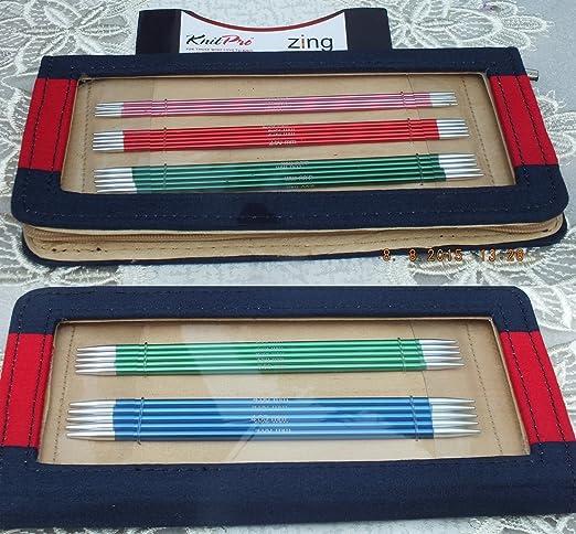 3 opinioni per Knit Pro Zing- Set di ferri da maglia a punta doppia, in alluminio, 15 cm,