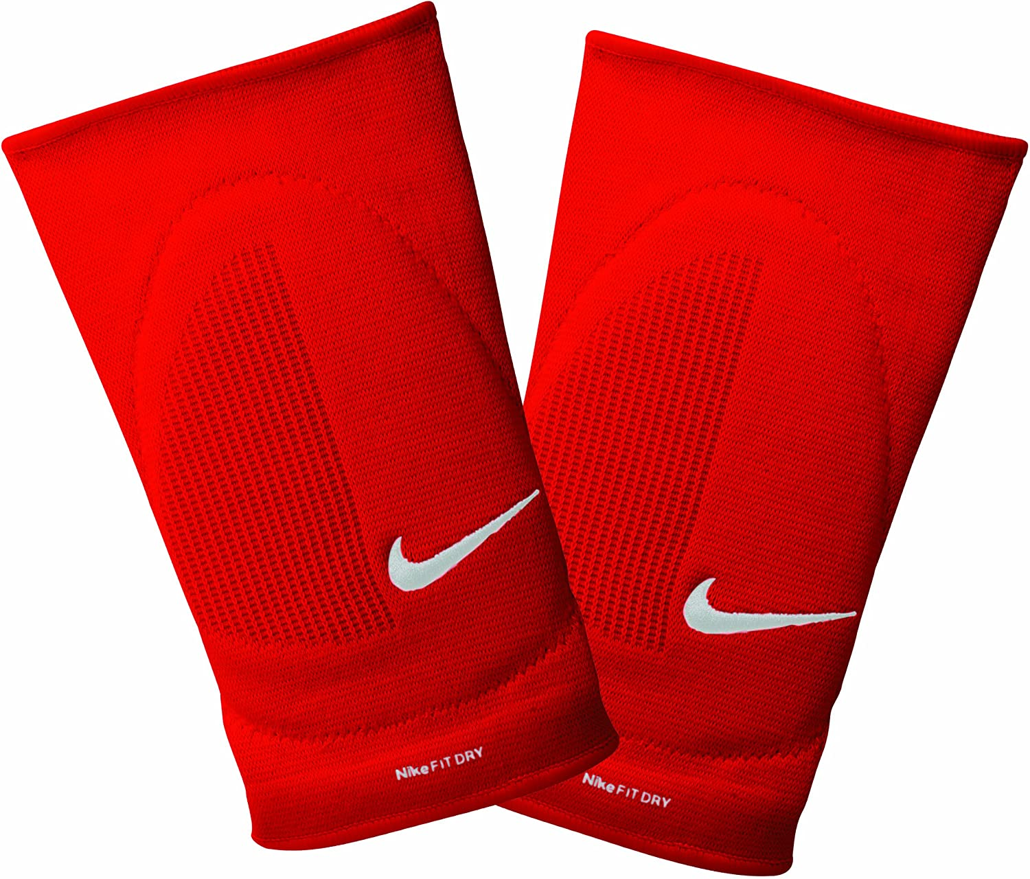 Amazon Com Nike Fit Dry Skinny Knee Pads Red Grey White Small Medium Volleyball Knee Pads Sports Outdoors