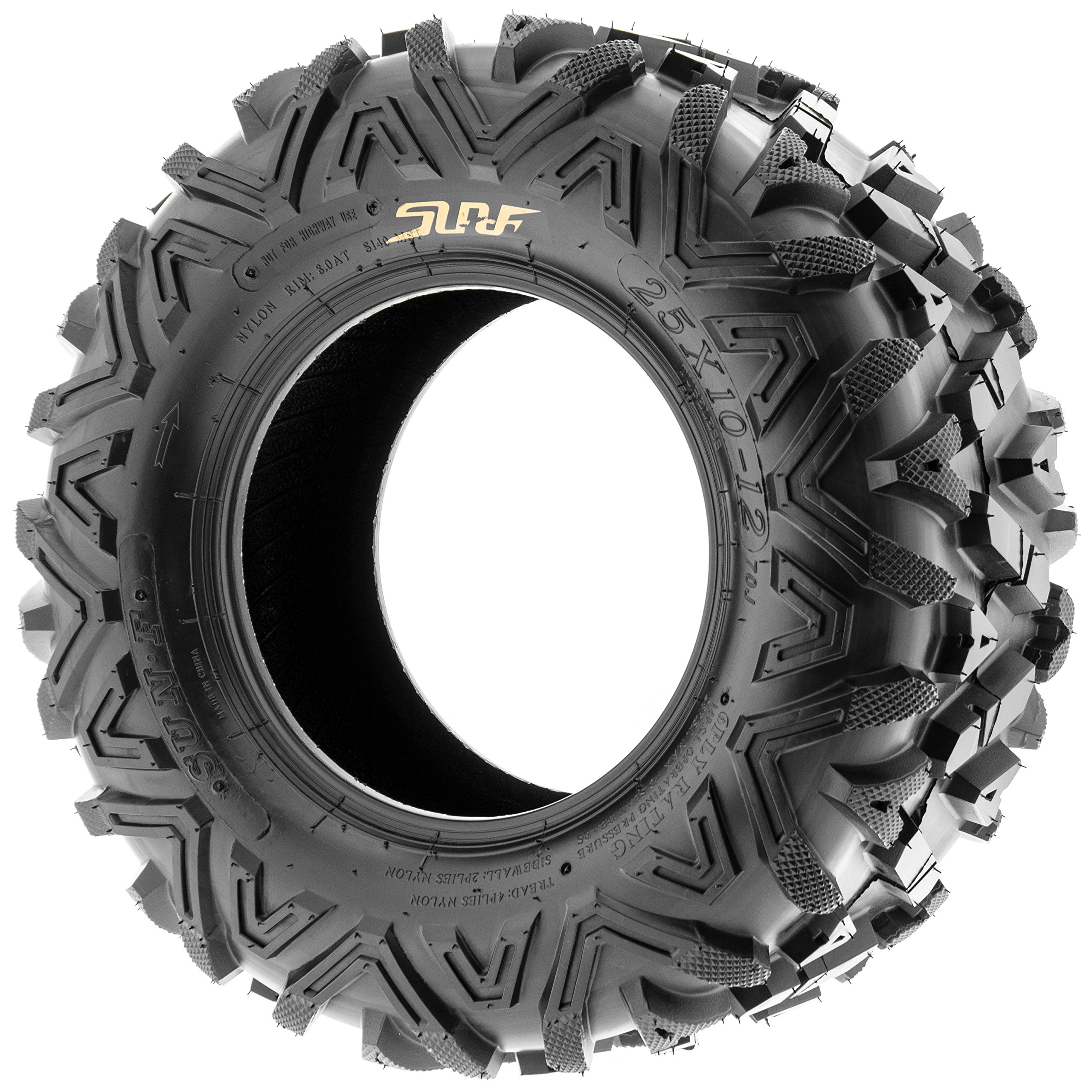 Pair of 2 SunF A033 Power.I AT 25x10-11 ATV UTV Off-Road Tires, All-Terrain, 6 PR, Tubeless by SUNF (Image #3)