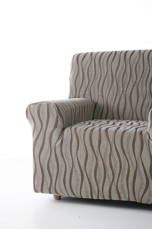Zebra Textil 18508/sofahusse Elasticizzato Andromeda 4/posti Marrone