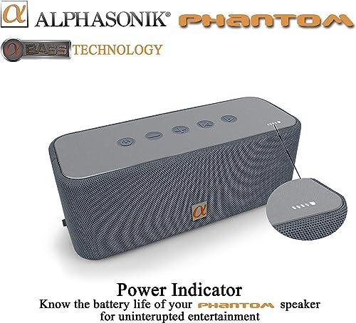 Alphasonik Phantom Wireless Bluetooth V4.2 Portable Party Speaker