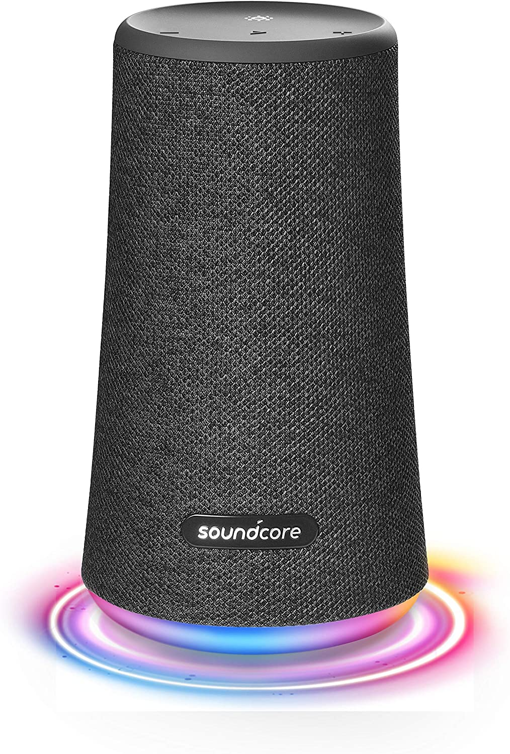 Anker A3162 Soundcore Flare+ Black Portable Bluetooth 360 Speaker All-Round Sound, Enhanced Bass & Ambient LED Light