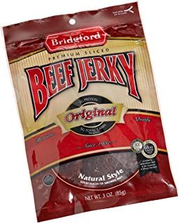 product image for Bridgford Beef Jerky, Original, 3-Ounce Pouches (Pack of 6)