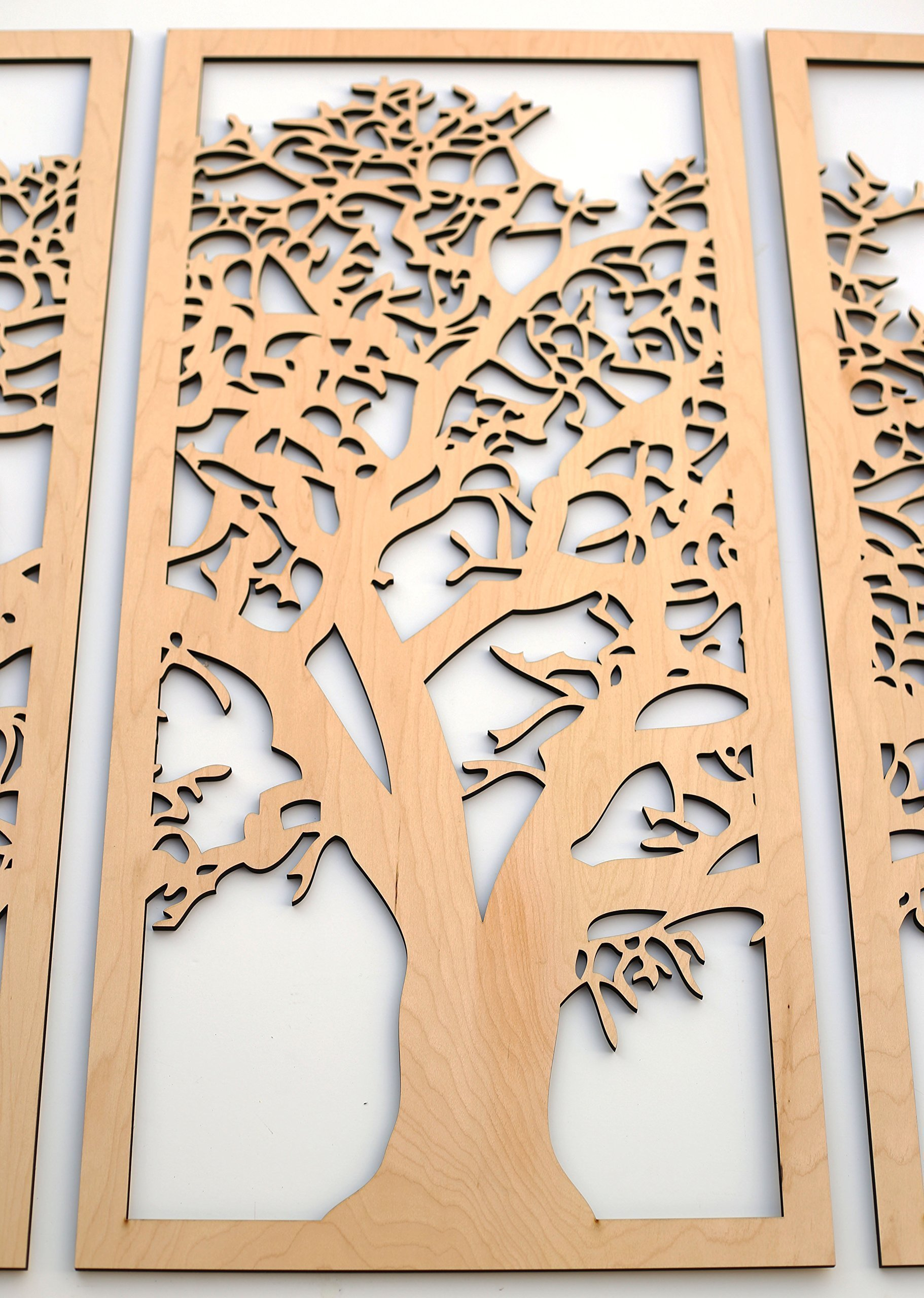 Tree of Life 3D Maple - 3 Panel Wood Wall Art - Beautiful Living ...