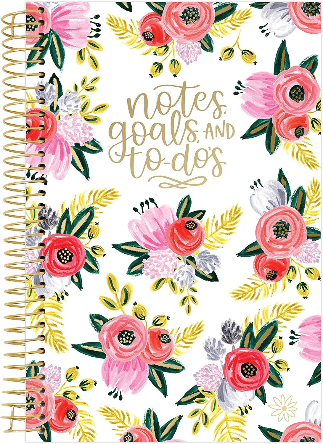 """bloom daily planners Bound to-Do List Book - UNDATED Daily Planning System Tear Off Calendar Pages - 6"""" x 8.25"""" - Rustic Blooms"""