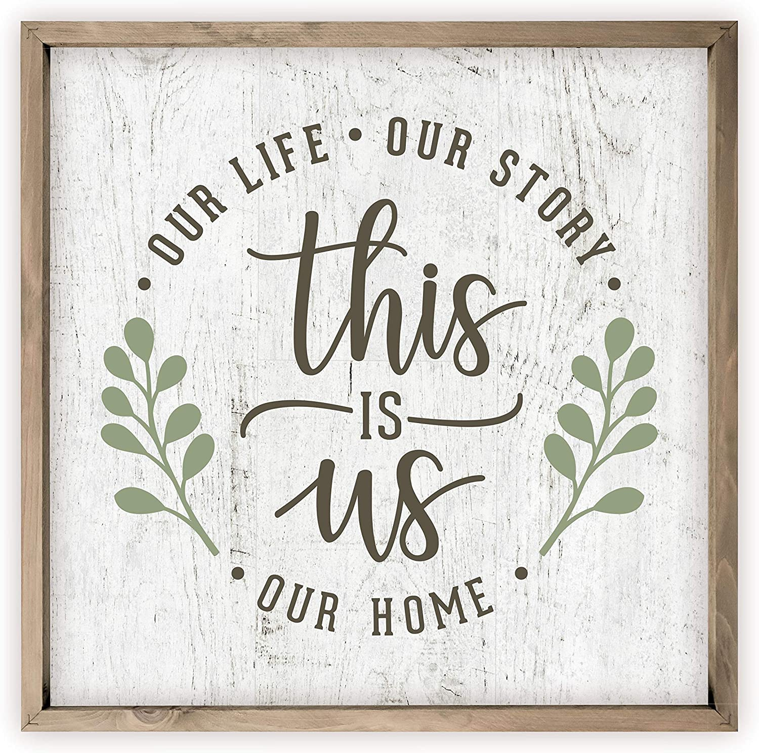 Our Home Family Established Customizable Family Sign Family Name Fall Decor Farmhouse Decor Our Crazy Our Story This Is Us Sign