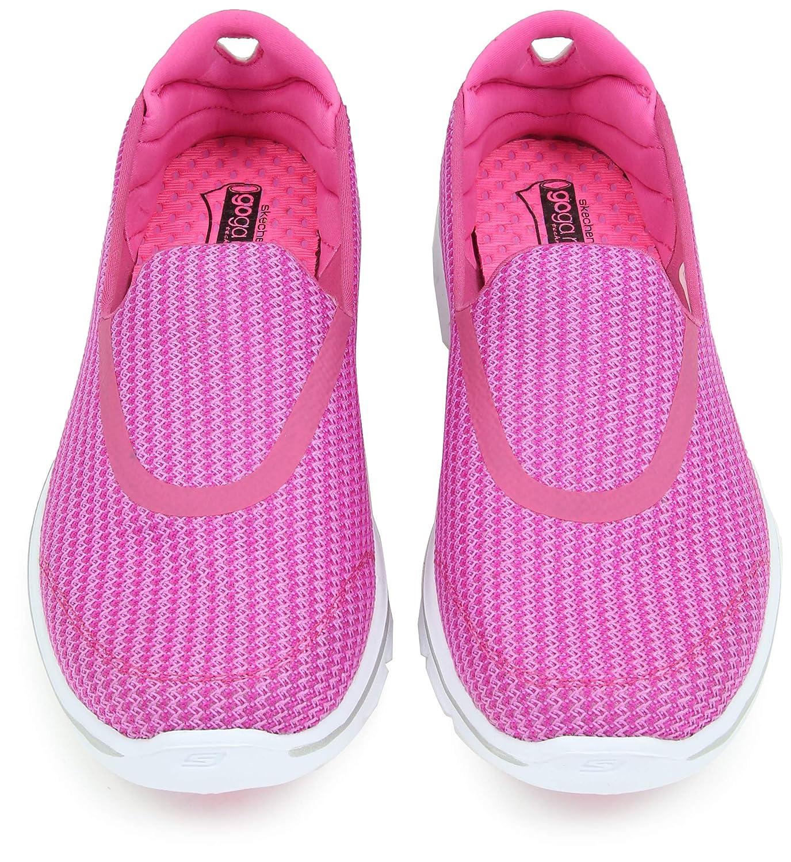 Skechers Go Walk 3 3 Walk Damen Sneaker grau Rosa (Hpk) 9f7812