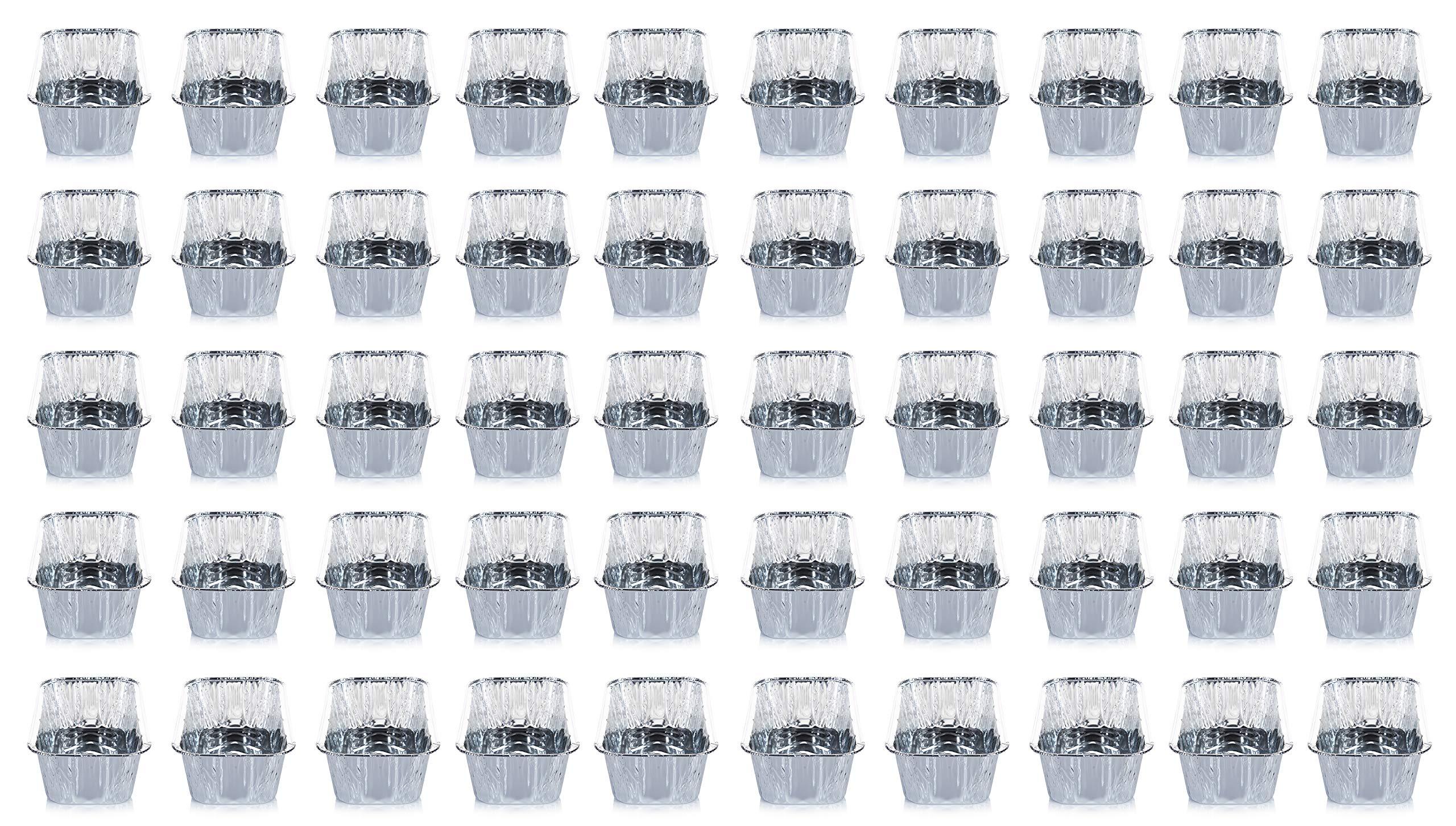DOBI (50 Pack) Loaf Pans - Disposable Aluminum Foil 2Lb Bread Tins, Standard Size - 8.5'' X 4.5'' X 2.5'' by DOBI (Image #5)